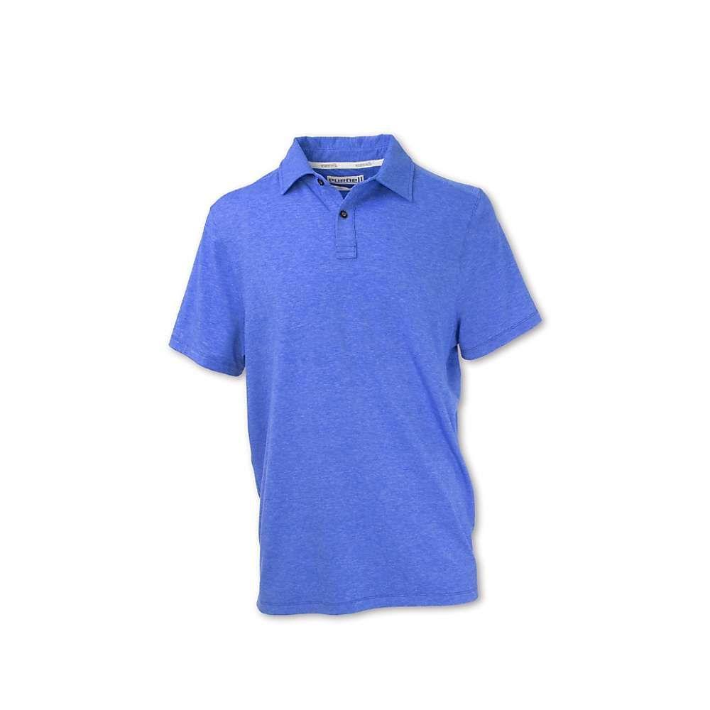 パーネル Purnell メンズ ポロシャツ トップス【performance knit polo shirt】Heather Blue