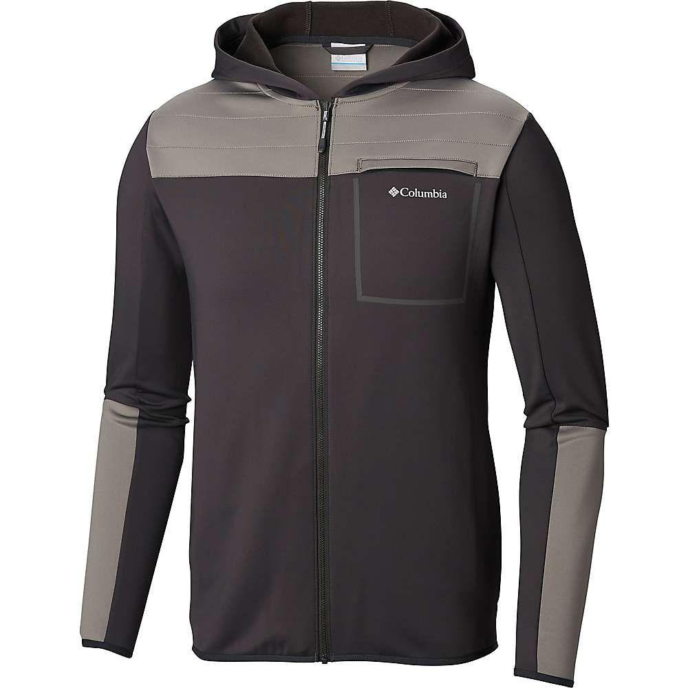 コロンビア Columbia メンズ フリース トップス【tech trail hybrid hoodie】Shark/Boulder