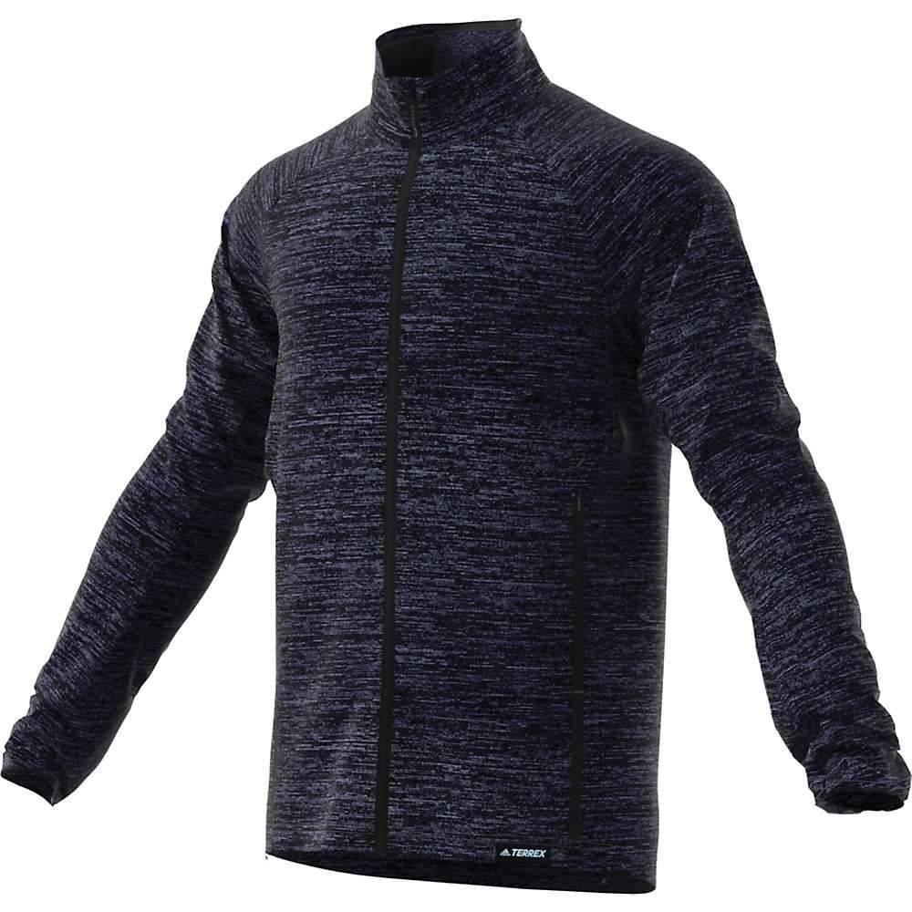 アディダス Adidas メンズ フリース トップス【knit fleece jacket】Legend Ink