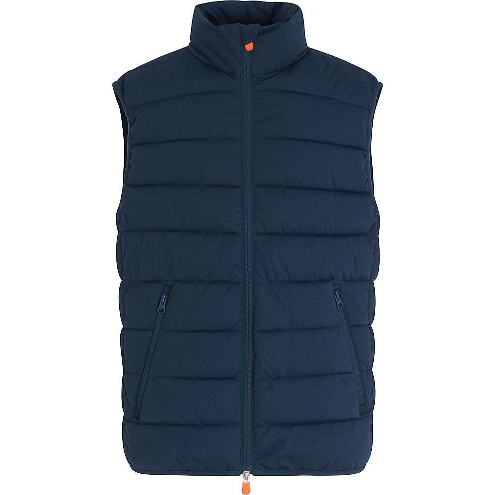 セイブ ザ ダック Save The Duck メンズ ベスト・ジレ トップス【signature stretch vest】Navy Blue Melange