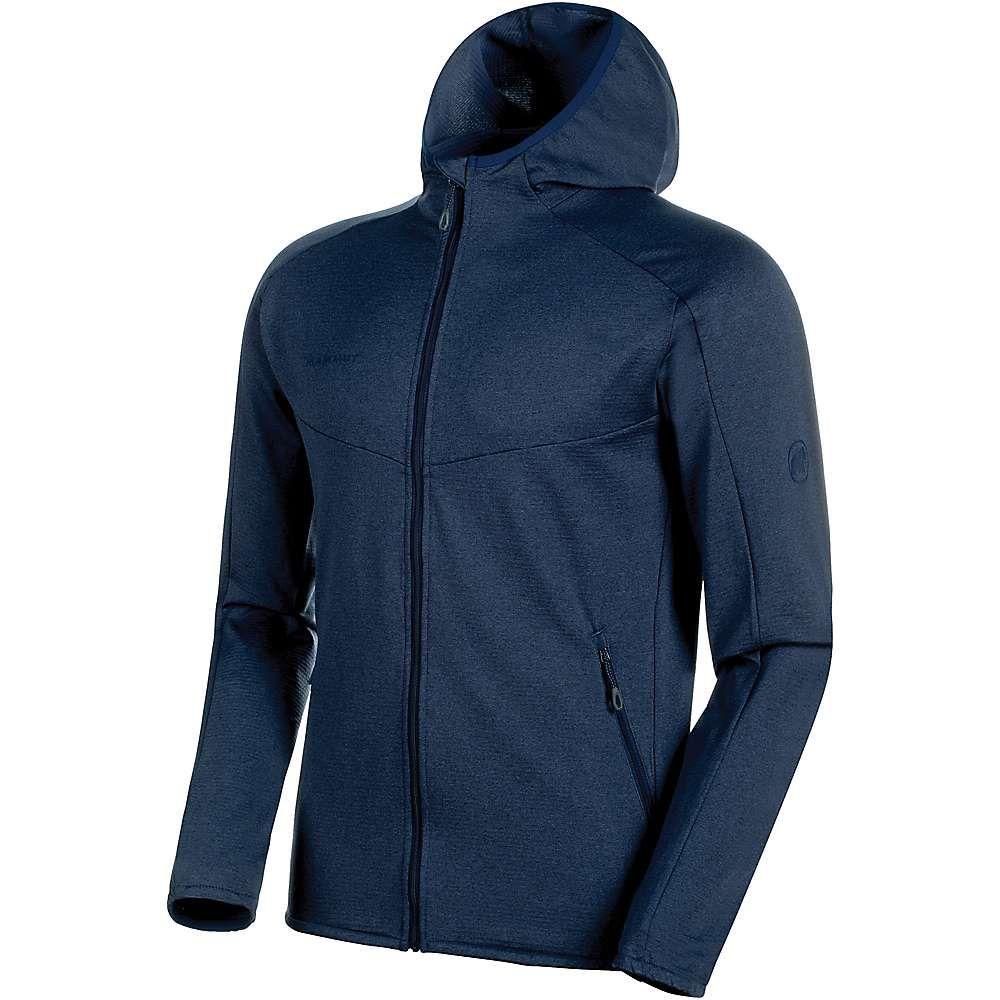 マムート Mammut メンズ フリース フード ミッドレイヤー トップス【nair midlayer hooded jacket】Peacoat Melange