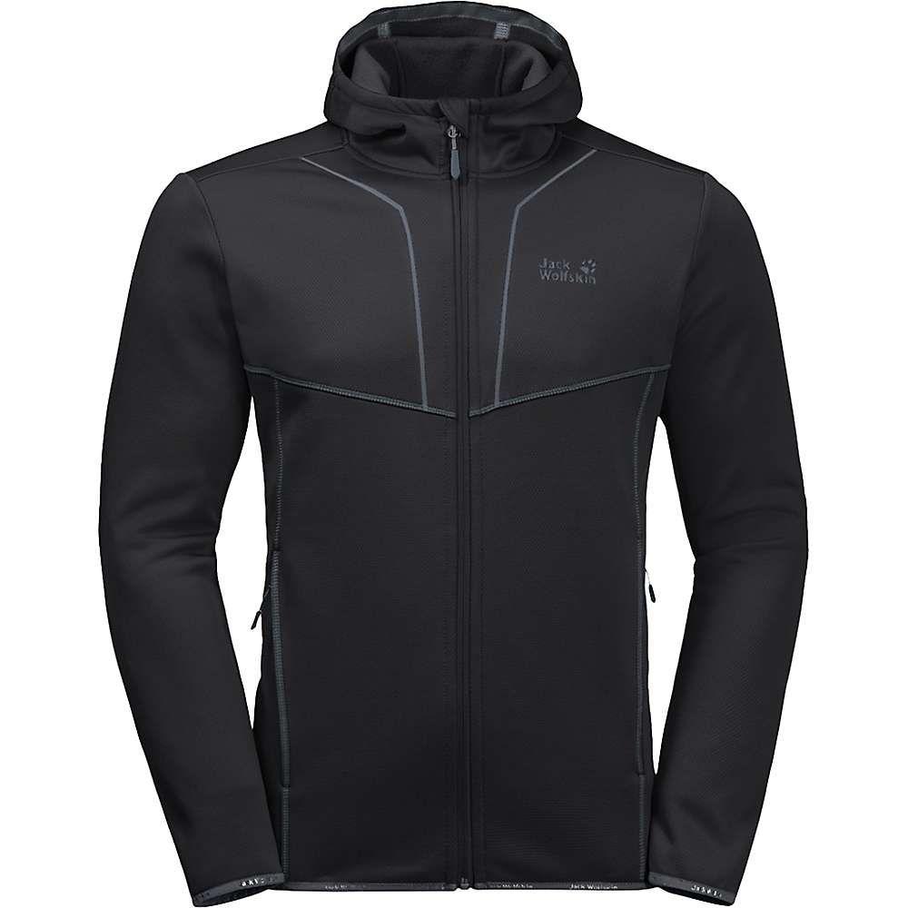ジャックウルフスキン Jack Wolfskin メンズ フリース フード トップス【kiewa hooded jacket】Black