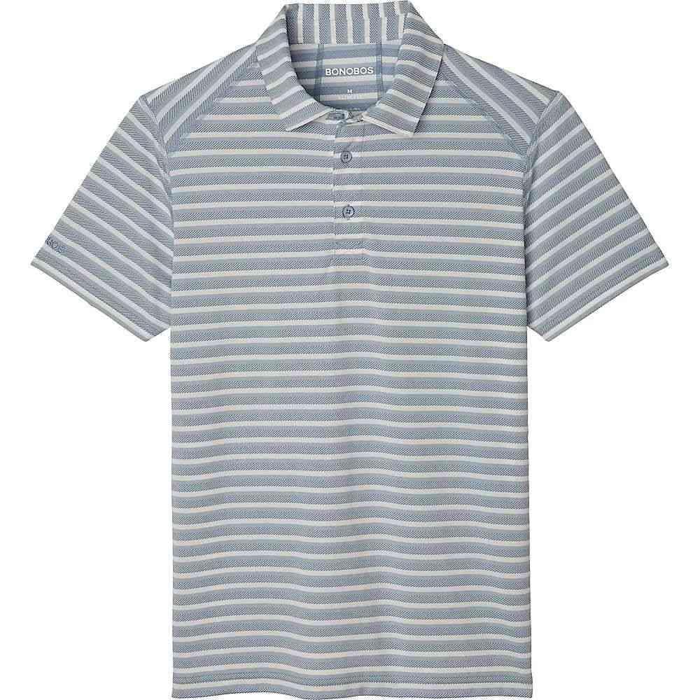 ボノボス Bonobos メンズ ポロシャツ トップス【printed flatiron polo】Pique Stripe/Quiet Harbor/White