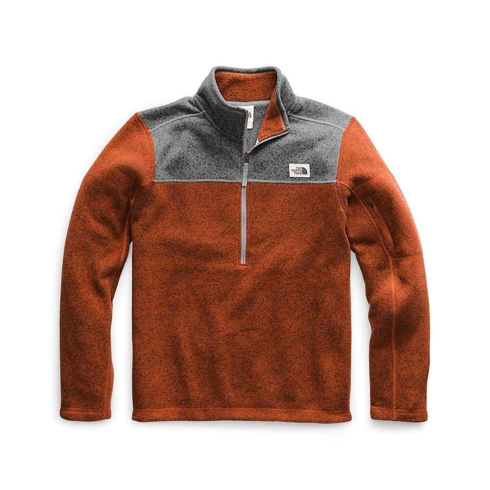 ザ ノースフェイス The North Face メンズ フリース トップス【gordon lyons 1/4 zip top】Picante Red Heather/TNF Medium Grey Heather
