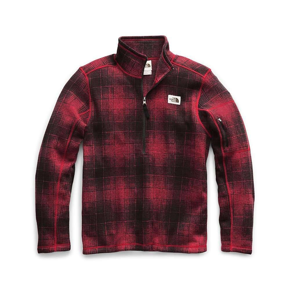 ザ ノースフェイス The North Face メンズ フリース トップス【gordon lyons novelty 1/4 zip top】Cardinal Red Ombre Plaid Small Print