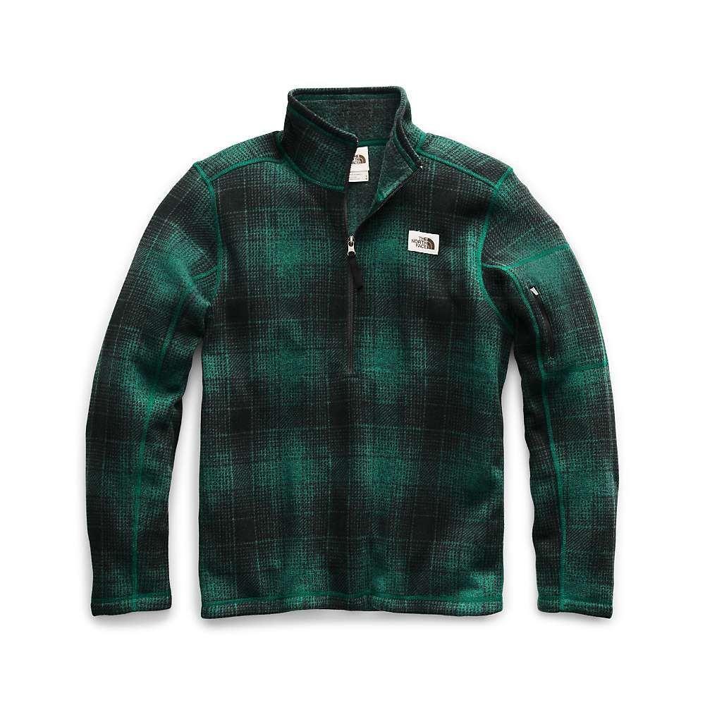 ザ ノースフェイス The North Face メンズ フリース トップス【gordon lyons novelty 1/4 zip top】Night Green Ombre Plaid Small Print