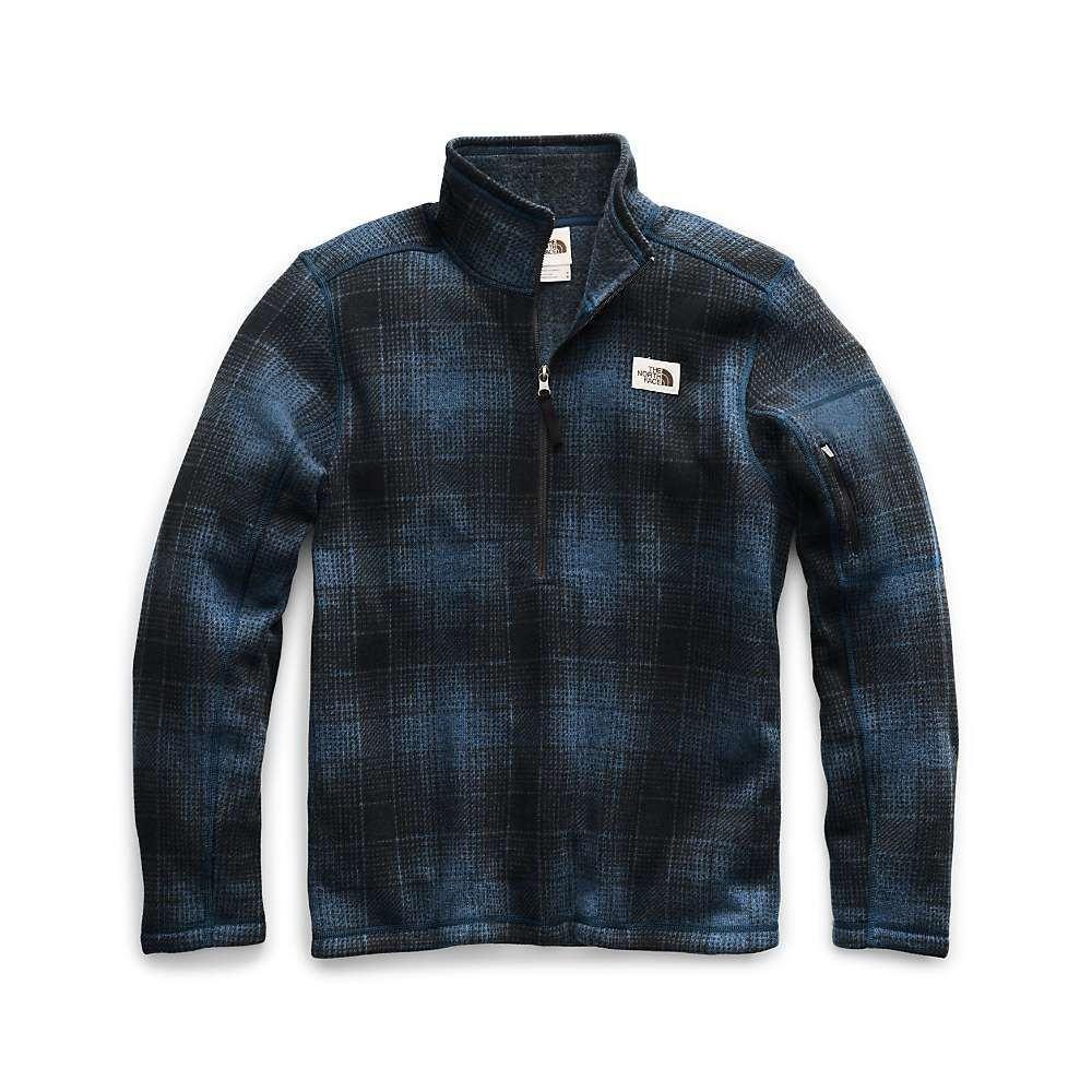 ザ ノースフェイス The North Face メンズ フリース トップス【gordon lyons novelty 1/4 zip top】Shady Blue Ombre Plaid Small Print
