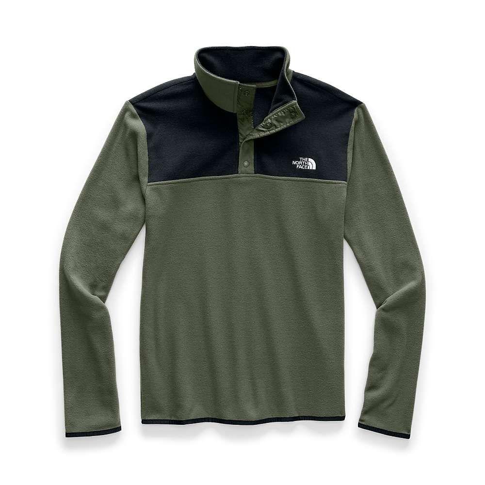ザ ノースフェイス The North Face メンズ フリース トップス【tka glacier snap-neck pullover】New Taupe Green/TNF Black