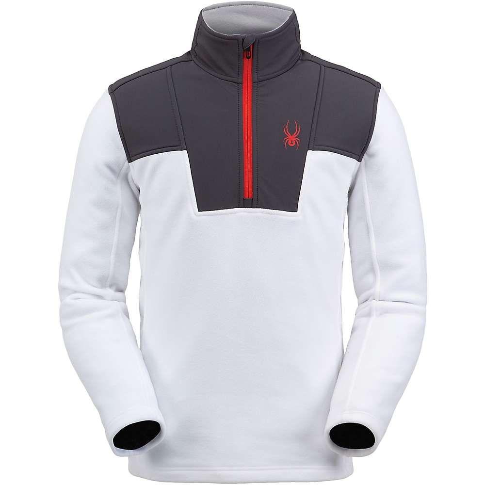スパイダー Spyder メンズ フリース トップス【basin half zip fleece jacket】White