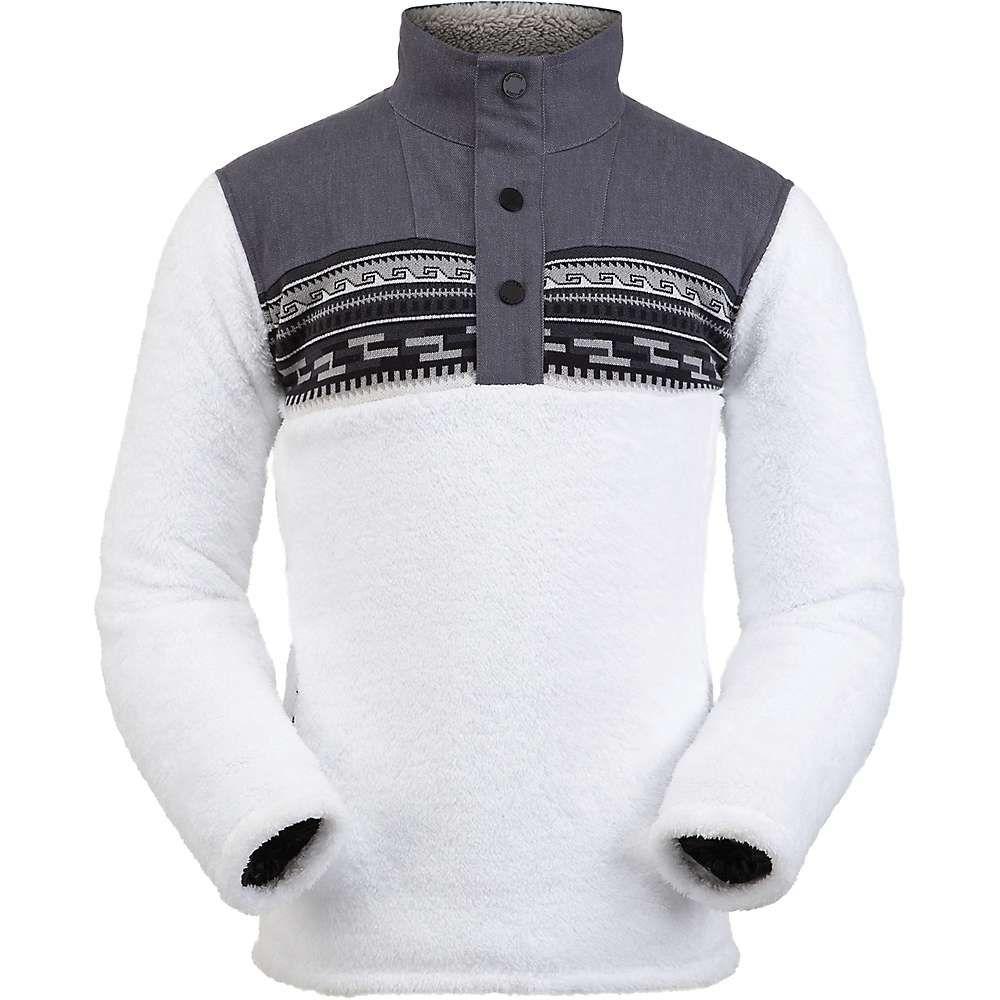 スパイダー Spyder メンズ フリース トップス【wyre half zip snap fleece jacket】White
