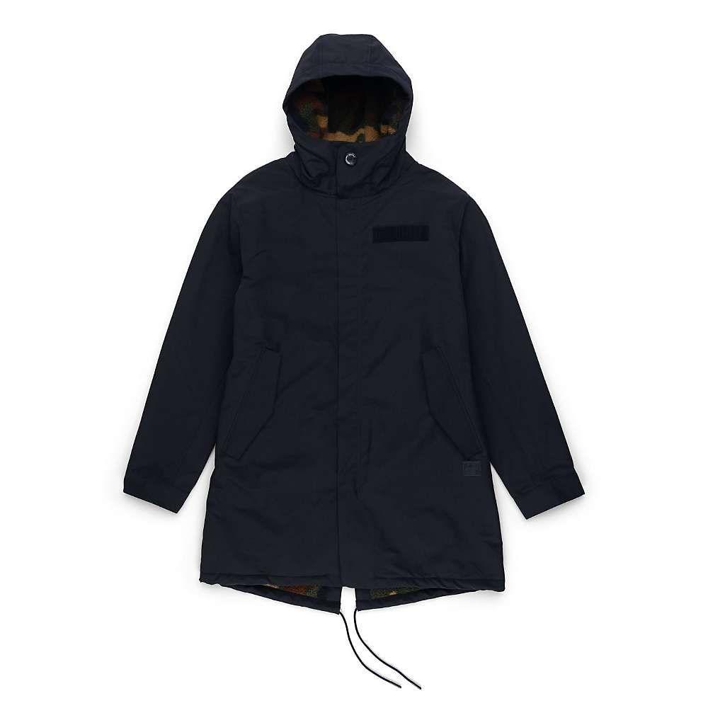ハーシェル サプライ Herschel Supply Co メンズ フリース トップス【sherpa lined fishtail】Black/Woodland Camo Sherpa Lining