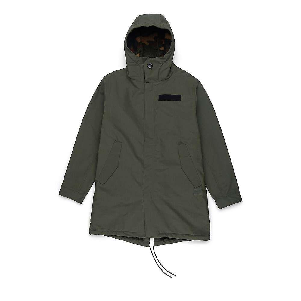 ハーシェル サプライ Herschel Supply Co メンズ フリース トップス【sherpa lined fishtail】Dark Olive/Woodland Camo Sherpa Lining