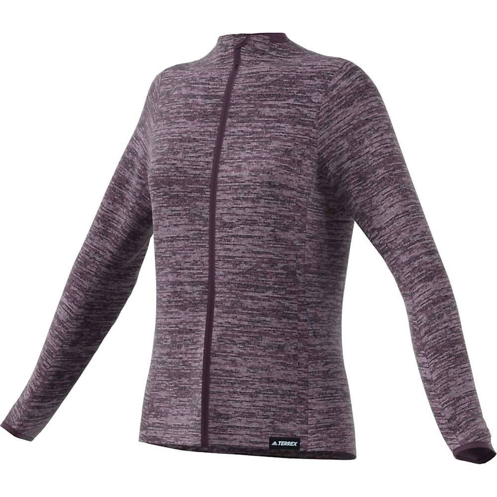 アディダス Adidas レディース フリース トップス【Knit Fleece Jacket】Red Night