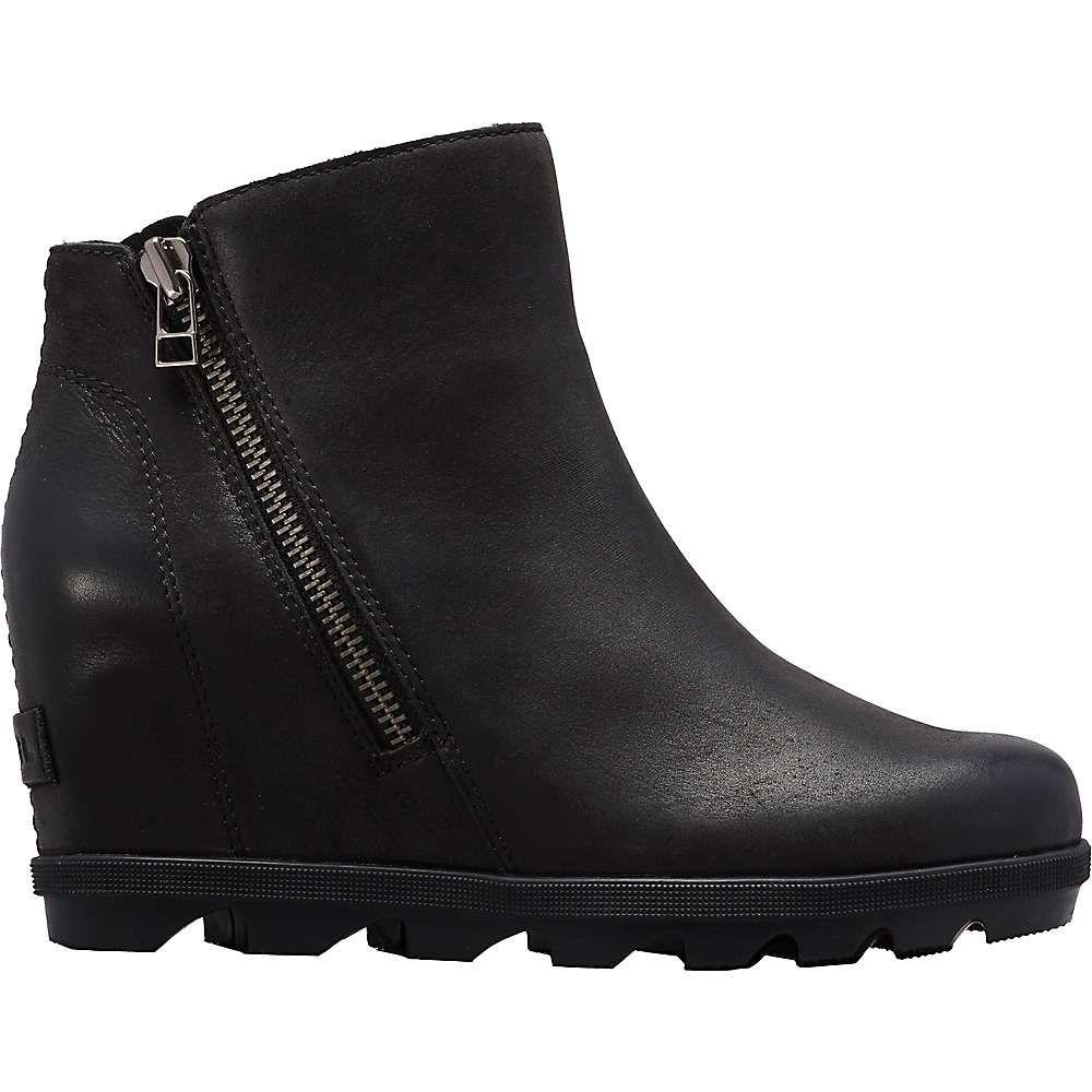 ソレル Sorel レディース ブーツ ウェッジソール シューズ・靴【Joan Of Arctic Wedge II Zip Boot】Black