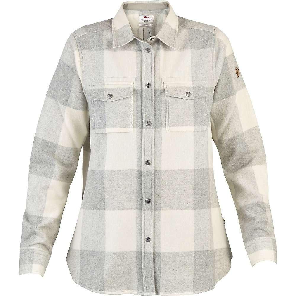フェールラーベン Fjallraven レディース ハイキング・登山 シャツ トップス【Canada LS Shirt】Fog/Chalk White