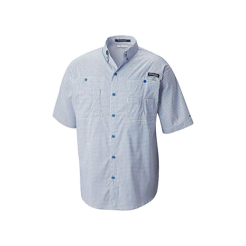 コロンビア Columbia メンズ 半袖シャツ トップス【Super Tamiami SS Shirt】Vivid Blue Mini Plaid