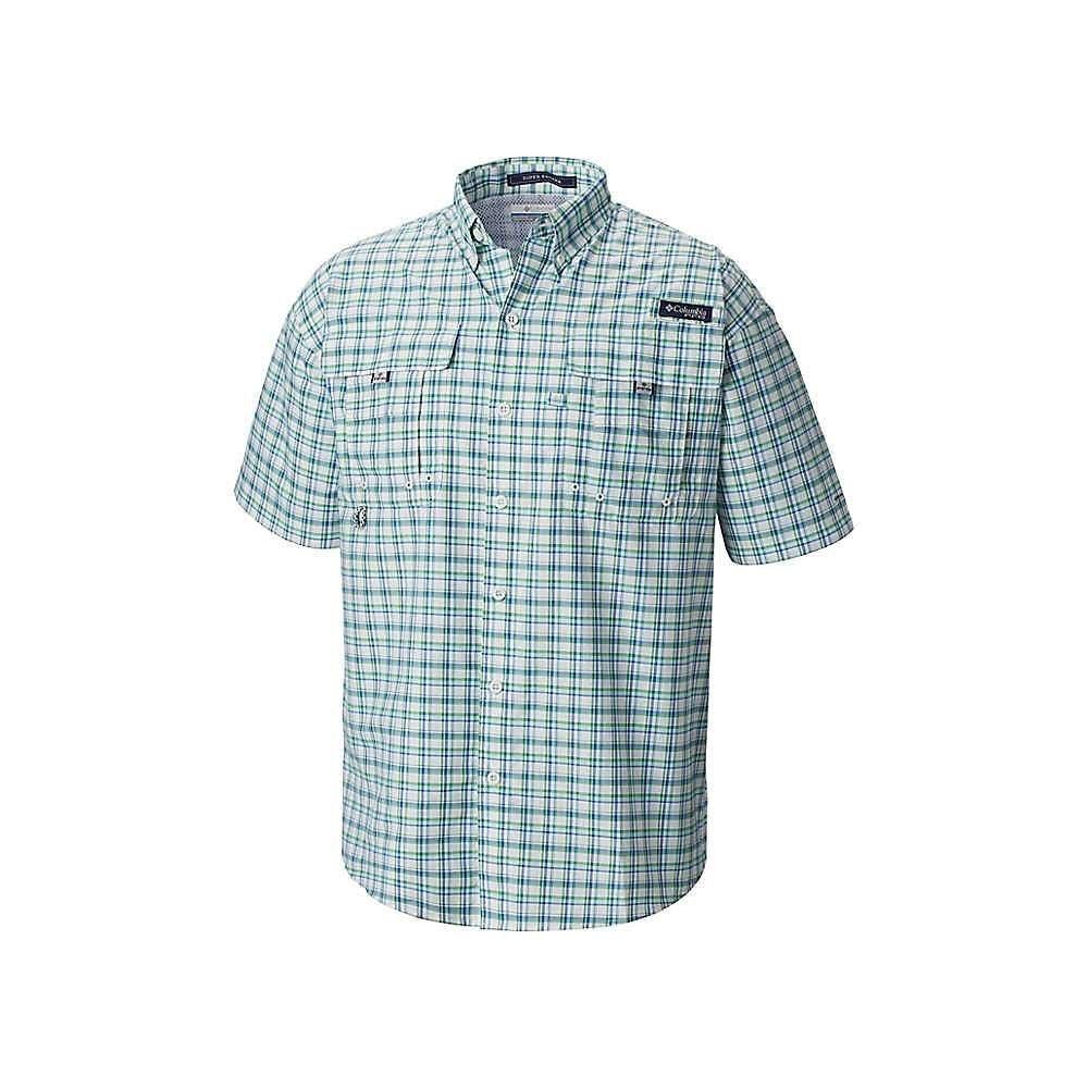 コロンビア Columbia メンズ 半袖シャツ トップス【Super Bahama SS Shirt】Gulf Stream Large Plaid