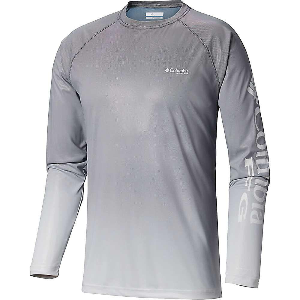 コロンビア Columbia メンズ 釣り・フィッシング トップス【Terminal Deflector Printed LS Shirt】Black Gradient