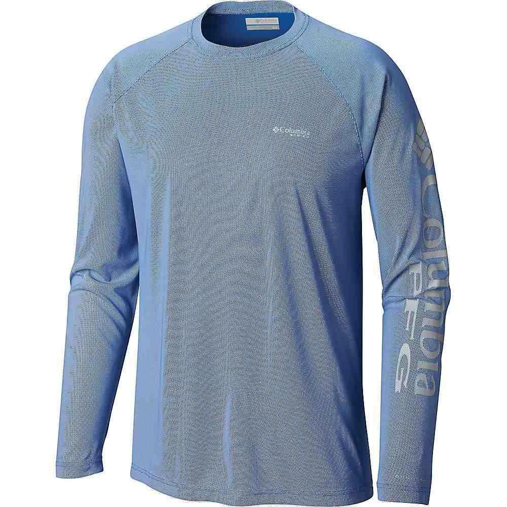 コロンビア メンズ 釣り フィッシング トップス Vivid 流行 Blue 高品質新品 Cool Terminal サイズ交換無料 Grey Columbia Deflector LS Shirt