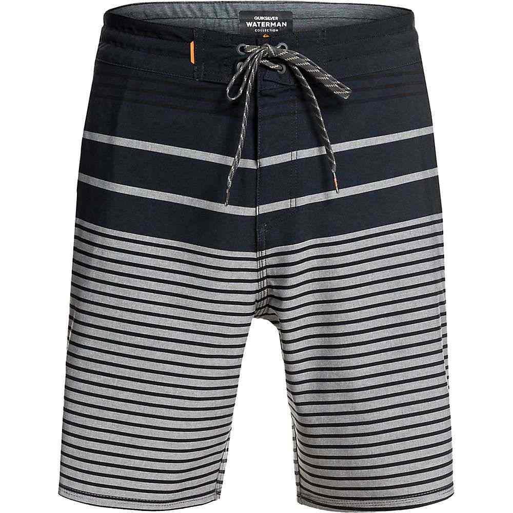 クイックシルバー Quiksilver メンズ 海パン 水着・ビーチウェア【Liberty Stripe Beachshort 19】Charcoal Gray