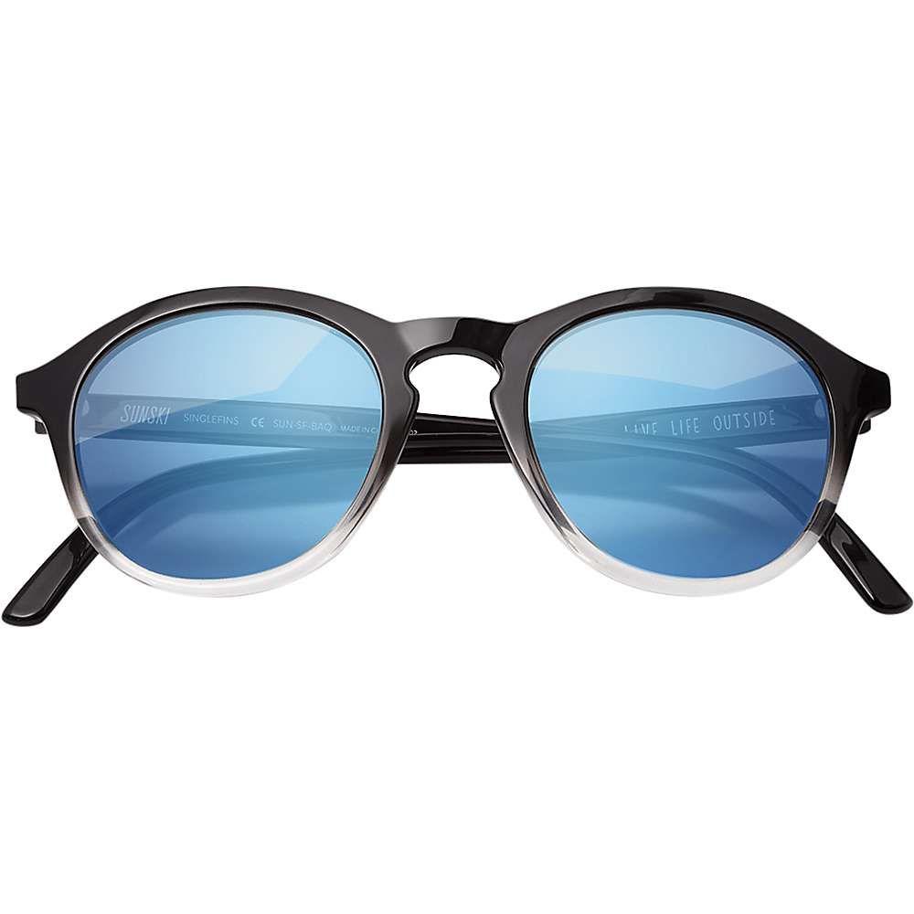 サンスキ Sunski ユニセックス メガネ・サングラス 【Singlefin Sunglasses】Black/Aqua