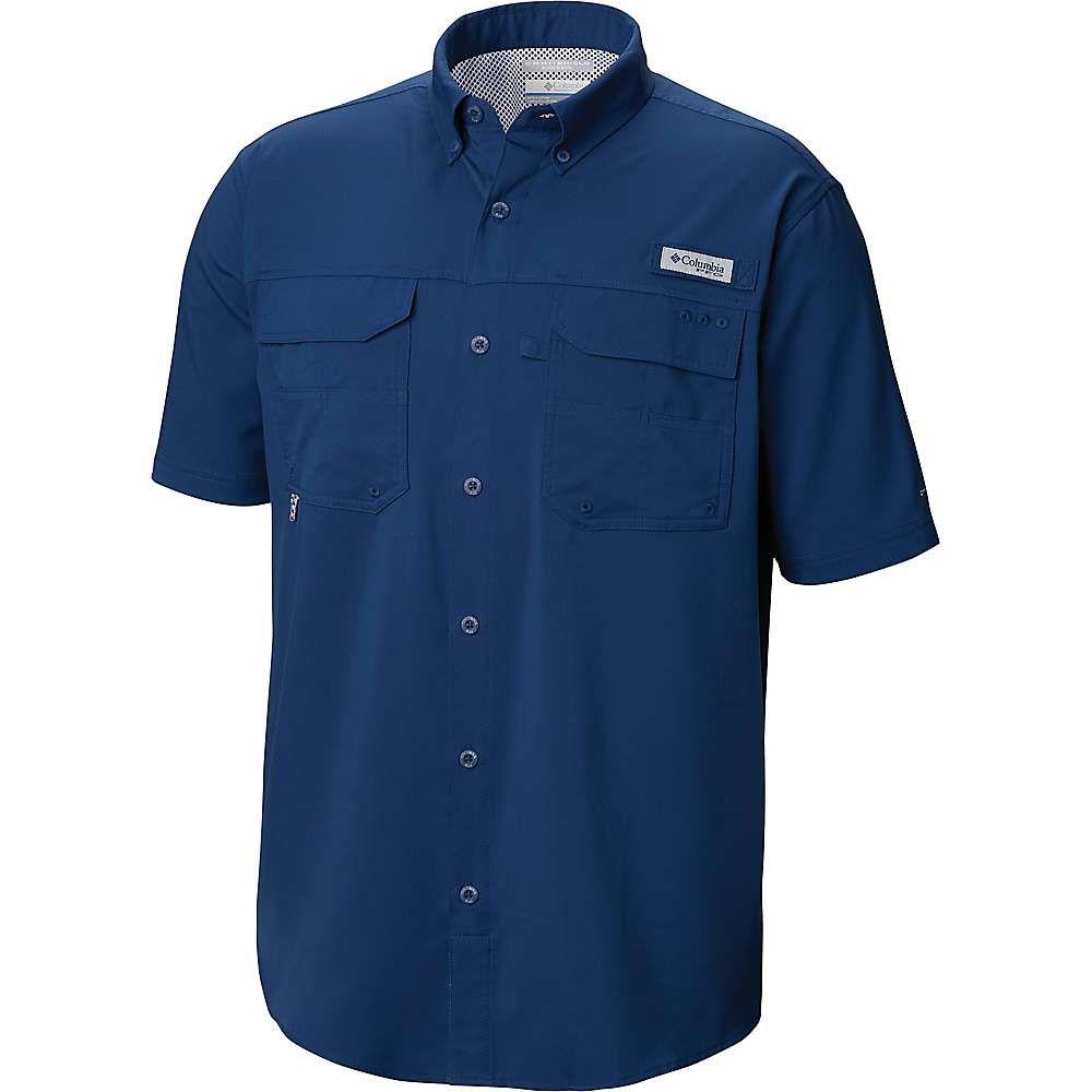 コロンビア メンズ 釣り フィッシング トップス Carbon サイズ交換無料 現品 Columbia Woven And 美品 Shirt Guts SS III Blood