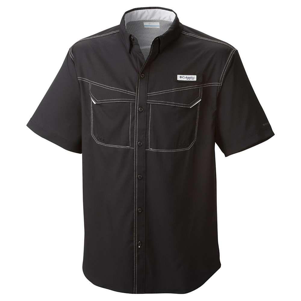 コロンビア メンズ 釣り フィッシング トップス Black サイズ交換無料 Offshore Shirt SS Low 輸入 Columbia Drag 格安 価格でご提供いたします