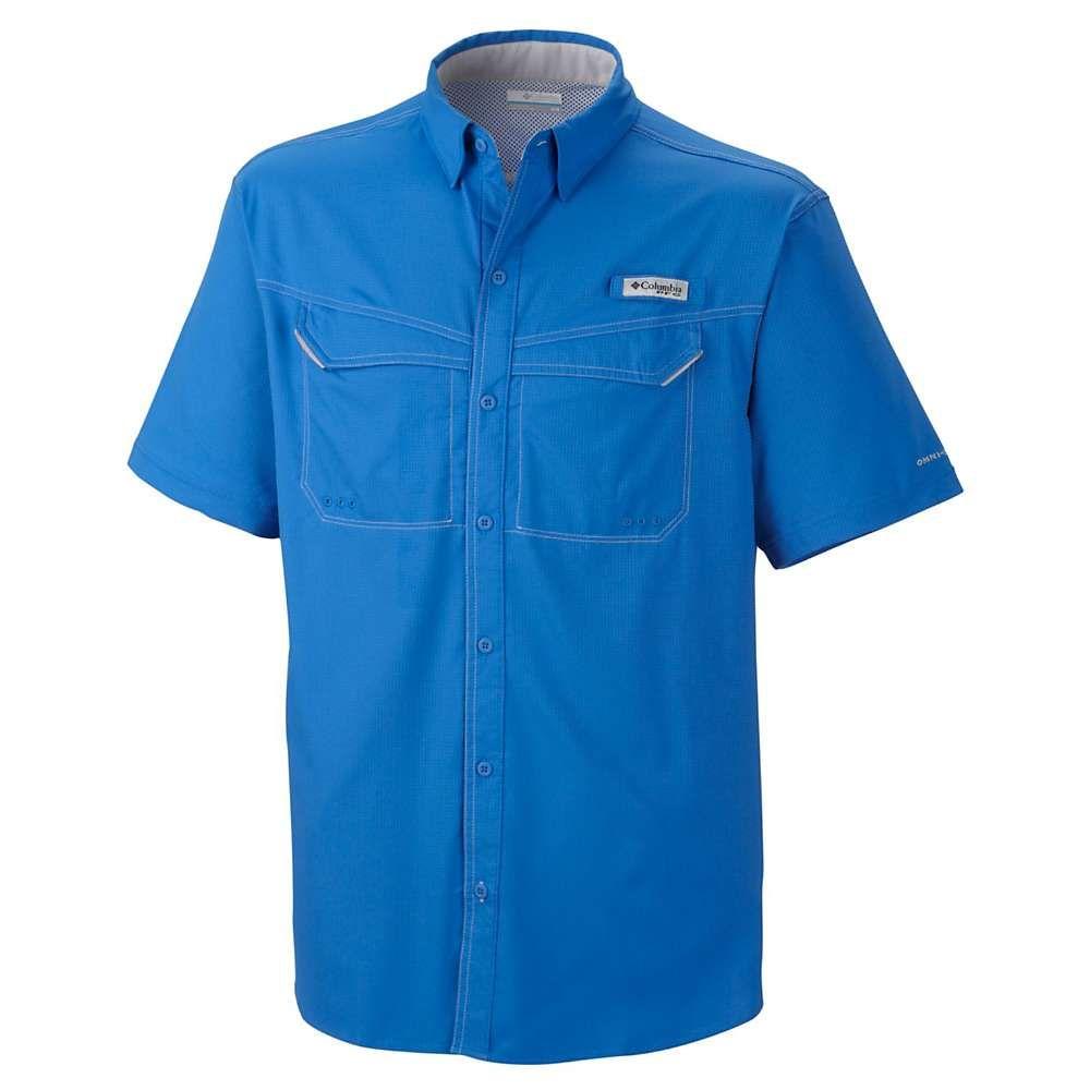 コロンビア メンズ 釣り フィッシング トップス ●手数料無料!! Vivid 手数料無料 Blue SS Drag Offshore Shirt Columbia Low サイズ交換無料