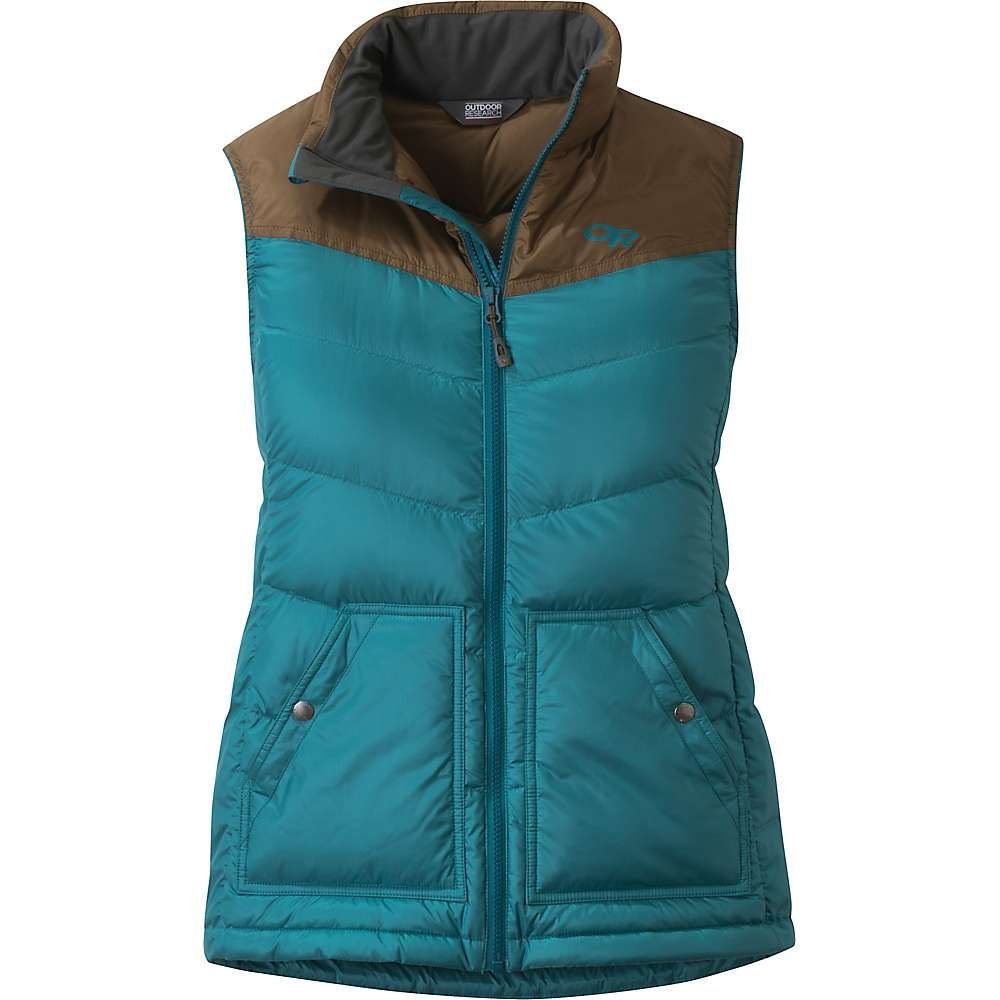 アウトドアリサーチ Outdoor Research レディース スキー・スノーボード ダウンベスト ダウン・中綿 ベスト・ジレ アウター【Transcendent Down Vest】Washed Peacock/Carob