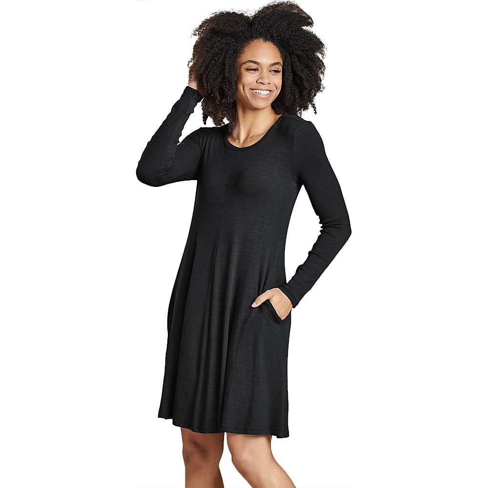 トードアンドコー Toad & Co レディース ワンピース ワンピース・ドレス【Daisy Rib LS Swing Dress】Black