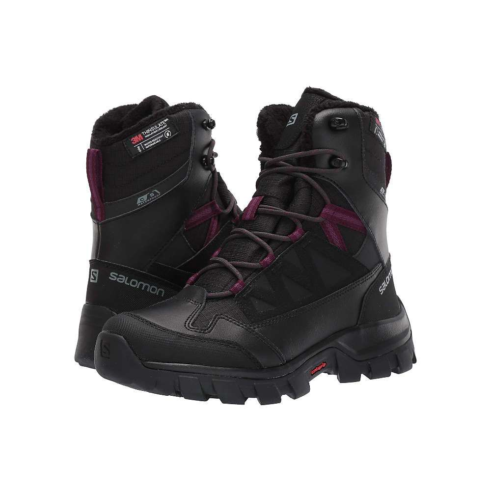 サロモン Salomon レディース ハイキング・登山 ブーツ シューズ・靴【Chalten TS CS Waterproof Boot】Black/Black/Potent Purple