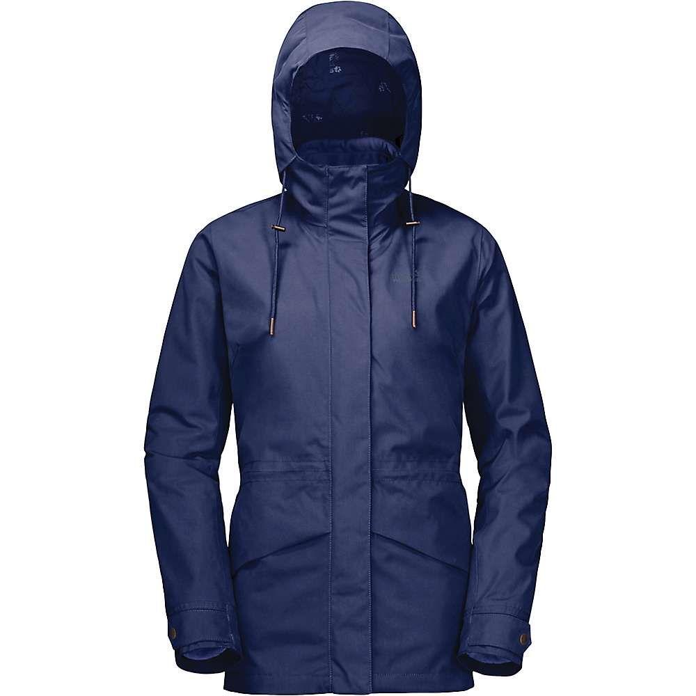 ジャックウルフスキン Jack Wolfskin レディース スキー・スノーボード ジャケット アウター【Rochelle 3 In 1 Jacket】Lapiz Blue