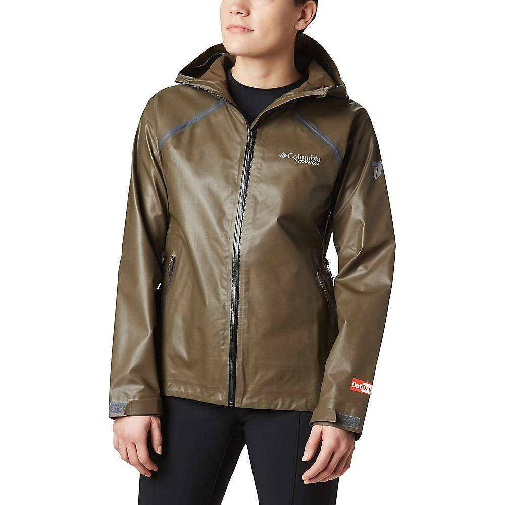 コロンビア Columbia レディース ジャケット アウター【Titanium OutDry Ex Reign Jacket】Olive Green Heather
