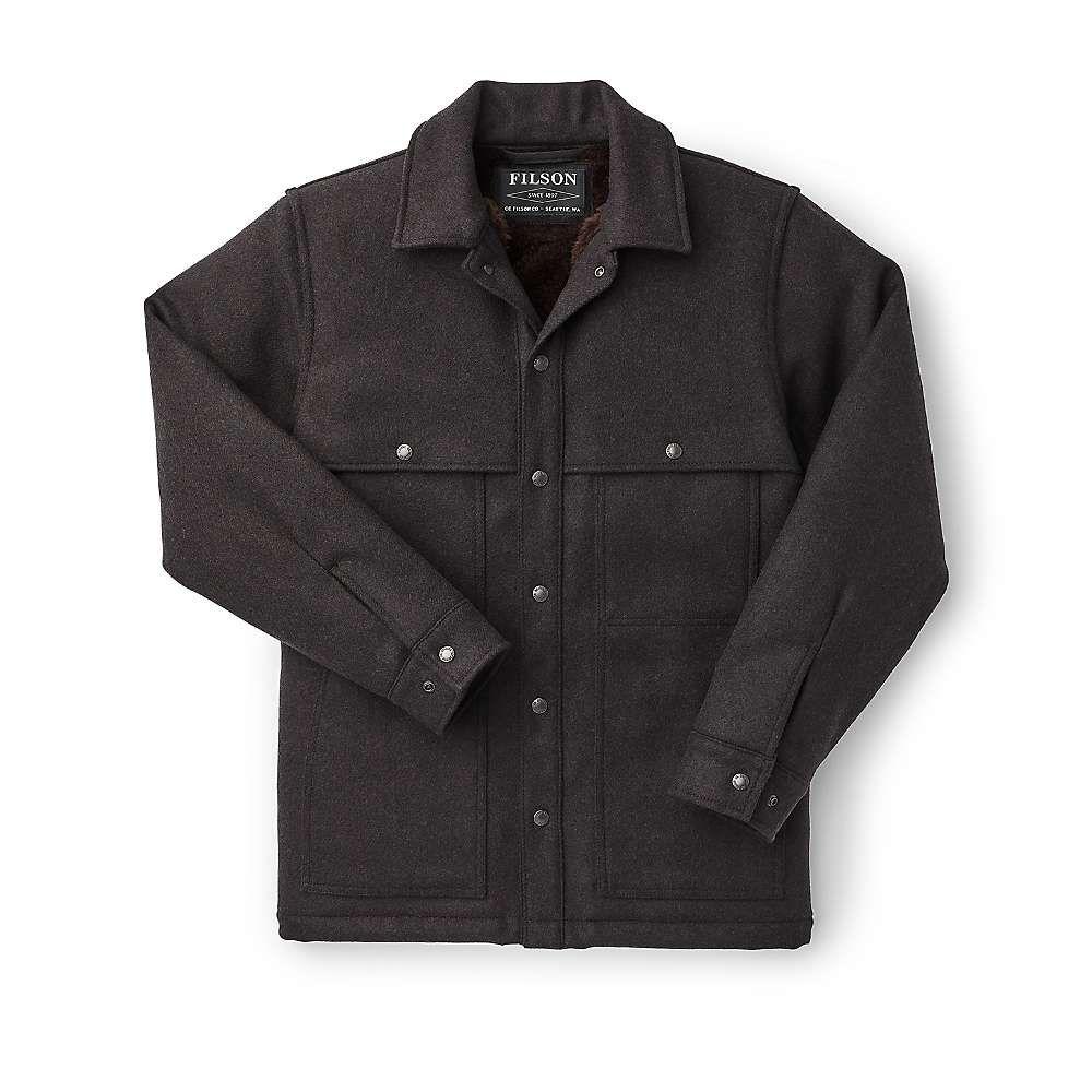 フィルソン Filson メンズ コート アウター【Lined Wool Cape Coat】Brown/Black Twill