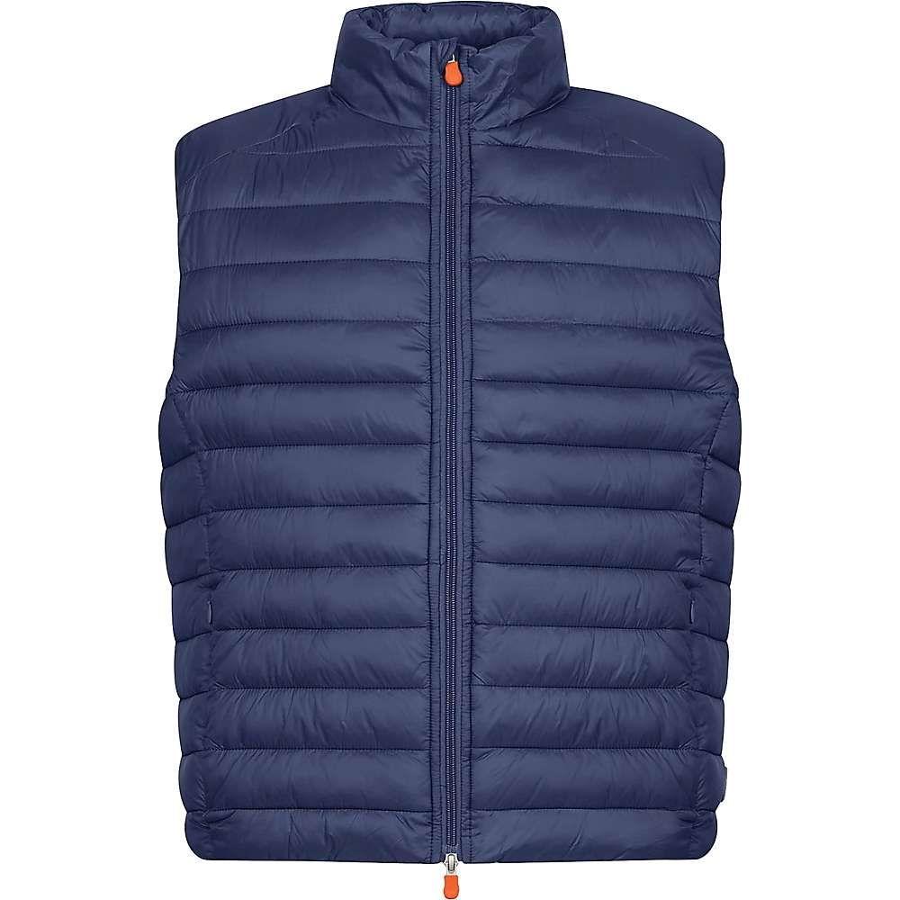 セイブ ザ ダック Save The Duck メンズ ベスト・ジレ トップス【Sherpa Vest】Navy Blue