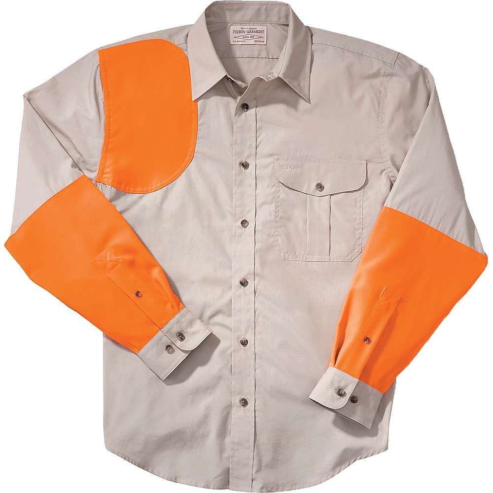 フィルソン Filson メンズ シャツ トップス【Lightweight Right-Handed Shooting Shirt】Desert Tan/Blaze Orange