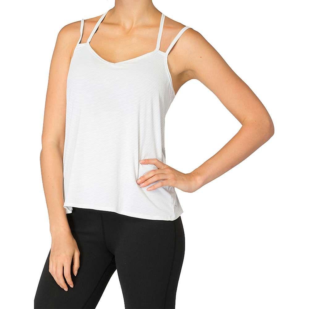 ビヨンドヨガ Beyond Yoga レディース ヨガ・ピラティス キャミソール トップス【Strappy V-Back Cami】White/Heather Grey Stripe