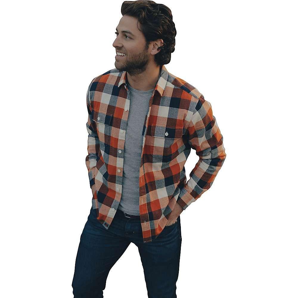 ノーマルブランド The Normal Brand メンズ シャツ オーバーシャツ トップス【Hawk Double Pocket Overshirt】Orange Plaid