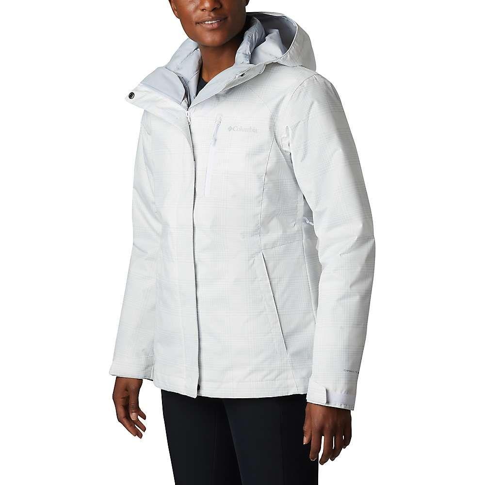 コロンビア Columbia レディース スキー・スノーボード ジャケット アウター【Whirlibird IV Interchange Jacket】White Simple Lines Print/Cirrus Grey