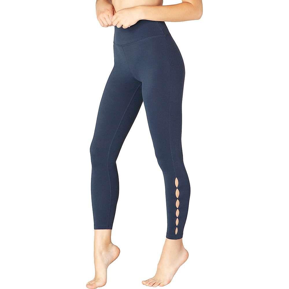 ビヨンドヨガ Beyond Yoga レディース ヨガ・ピラティス スパッツ・レギンス ボトムス・パンツ【Peek Through High Waisted Midi Legging】Nocturnal Navy Heather