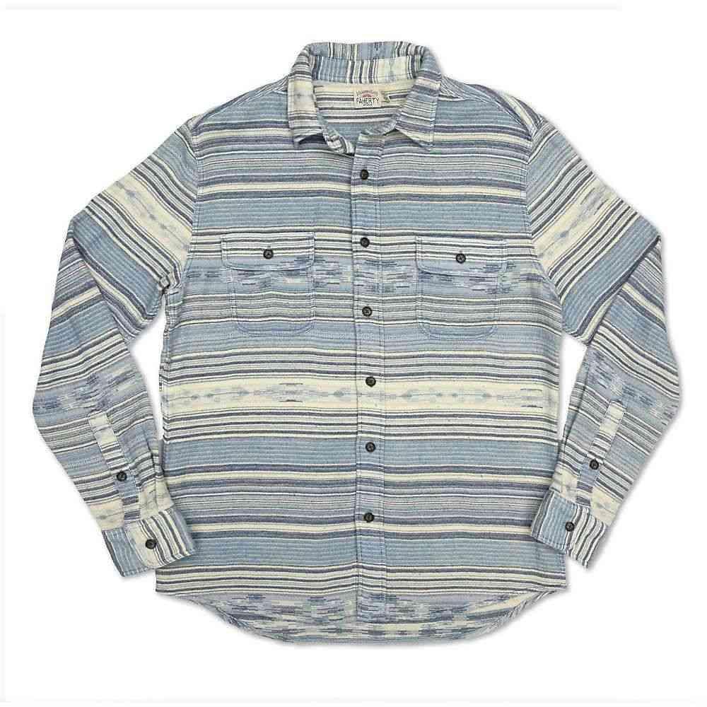 ファレティ Faherty メンズ シャツ オーバーシャツ トップス【Canyon Overshirt】Indigo Woods Stripe
