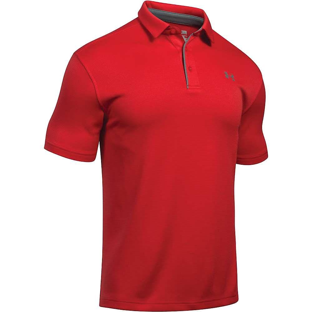 アンダーアーマー Under Armour メンズ ポロシャツ トップス【UA Tech Polo】Red/Graphite/Graphite