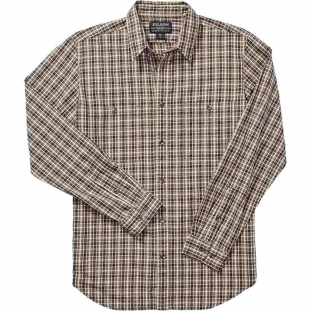 フィルソン Filson メンズ シャツ トップス【Wildwood Shirt】Beige/Rust/Black Plaid
