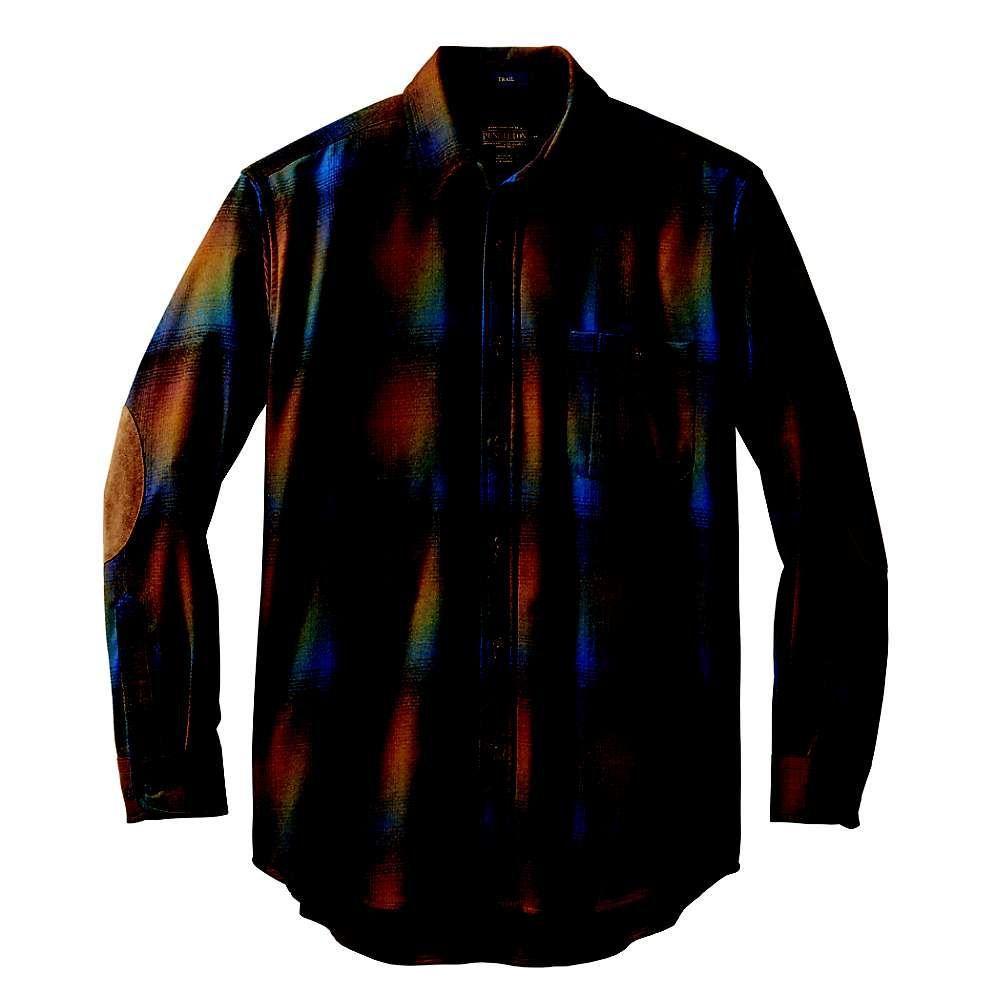 ペンドルトン Pendleton メンズ シャツ トップス【Long Sleeve Trail Shirt w/ Elbow Patch】Multi Blue/Green Ombre