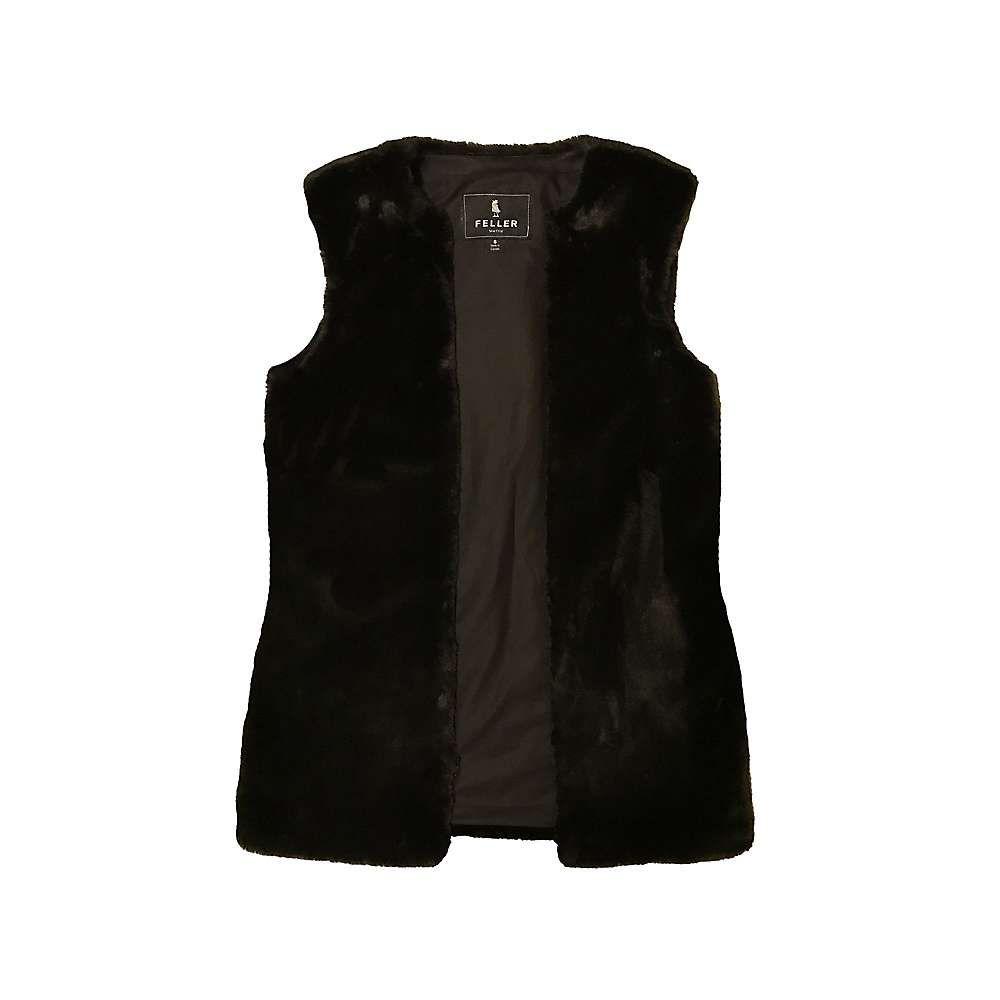 フェイラー Feller レディース スキー・スノーボード ベスト・ジレ アウター【Fitted Faux Fur Vest Liner】Black