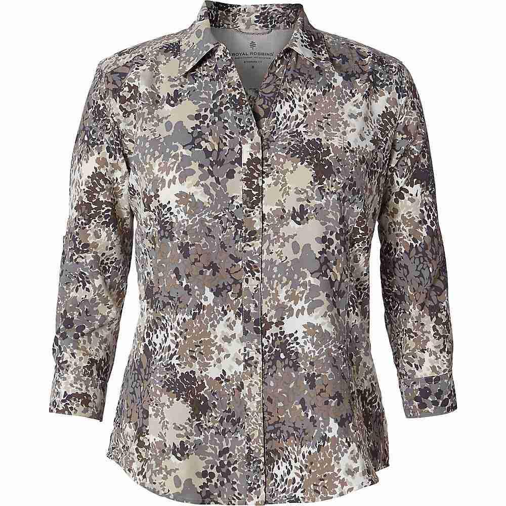 ロイヤルロビンズ Royal Robbins レディース ブラウス・シャツ 七分袖 トップス【Expedition Printed 3/4 Sleeve Shirt】Falcon