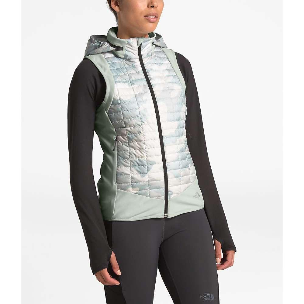 ザ ノースフェイス The North Face レディース ランニング・ウォーキング ベスト・ジレ トップス【ThermoBall Hybrid Vest】Tin Grey/TNF White Waxed Camo Print