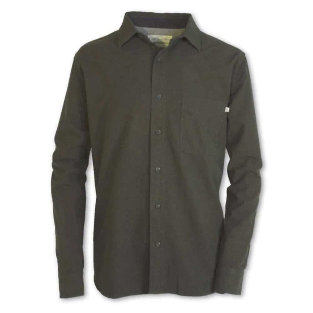 パーネル Purnell メンズ シャツ トップス【Chamois Button-Up】Green