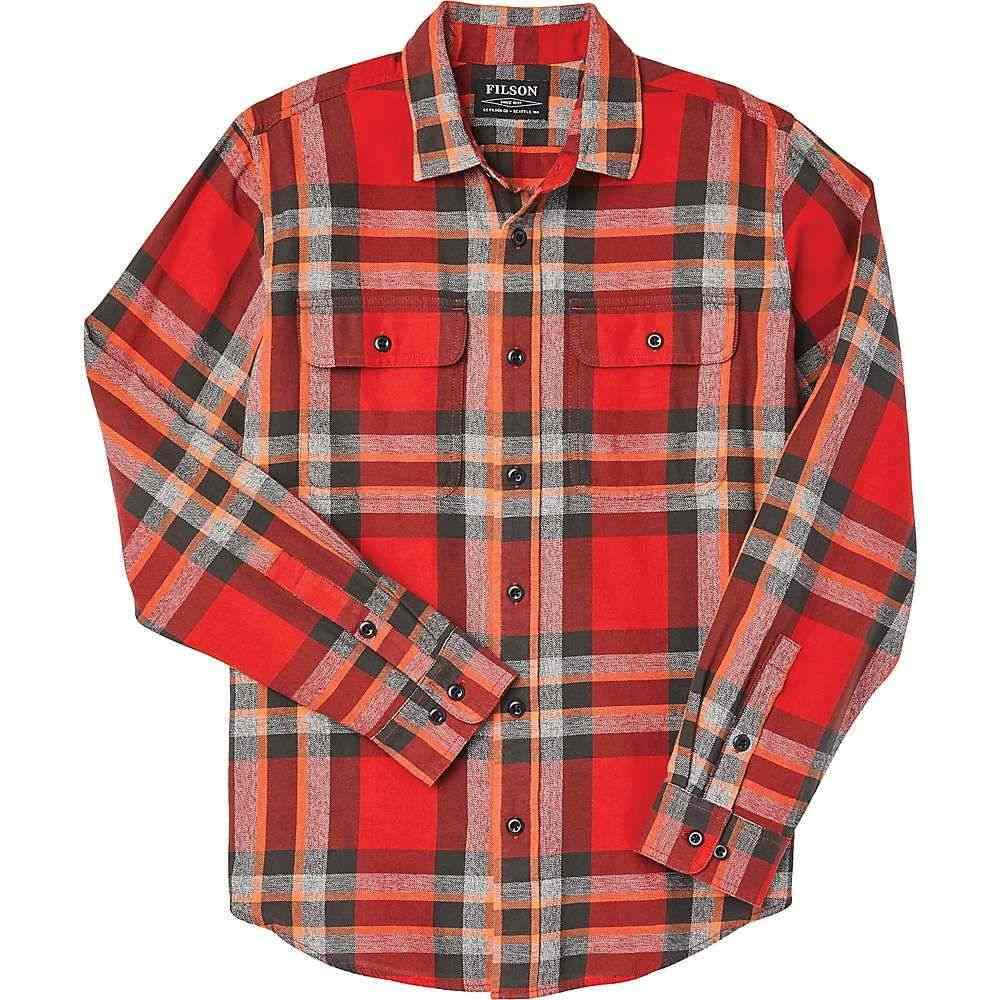 フィルソン Filson メンズ ハイキング・登山 トップス【Scout Shirt】Red/Black/Flame Plaid