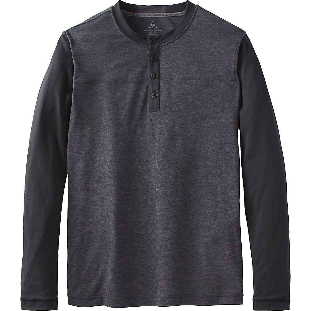 プラーナ メンズ トップス 長袖シャツ【Prana Zylo Henley Shirt】Charcoal Colorblock